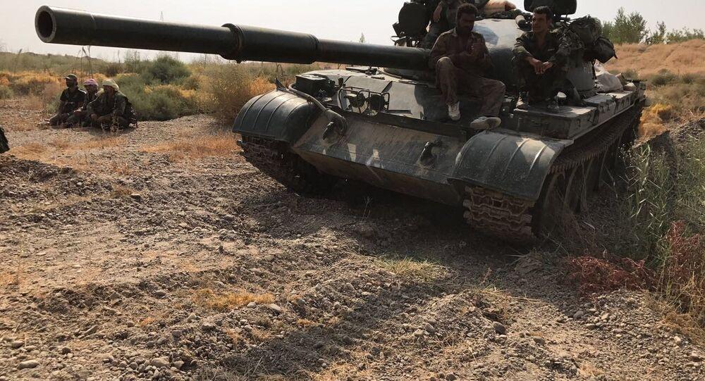 إحدى دبابات الجيش السوري