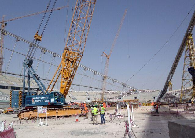 إنشاءات كأس العالم قطر 2022