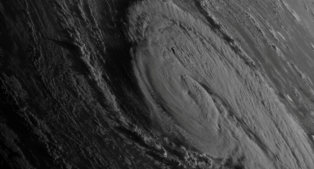 إعصار أوفيليا من الفضاء، 13 أكتوبر/ تشرين الأول 2017