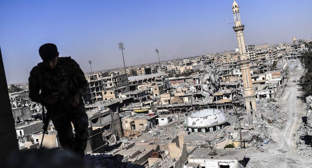 القوات الديموقراطية السورية في الرقة، سوريا 17 أكتوبر/ تشرين الأول 2017