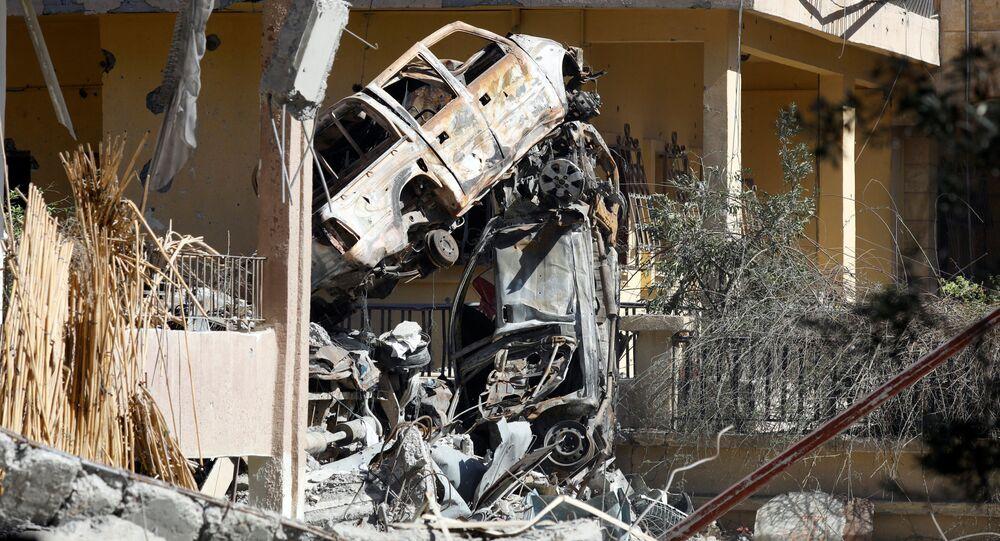 الرقة، سوريا 17 أكتوبر/ تشرين الأول 2017