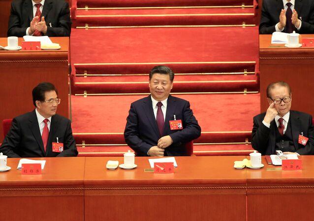 الرئيس الصيني شي جين بينغ في المؤتمر التاسع عشر للحزب الشيوعي في بكين، الصين 18 أكتوبر/ تشرين الأول 2017