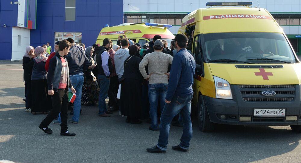 وصل أطفال روس من سوريا إلى مطار غروزني في الشييان