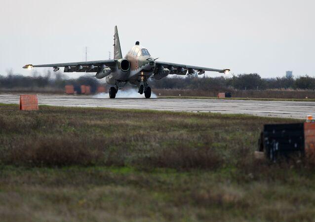 طائرة سو-25 أو بي3 في كراسنودارسكي كراي، روسيا