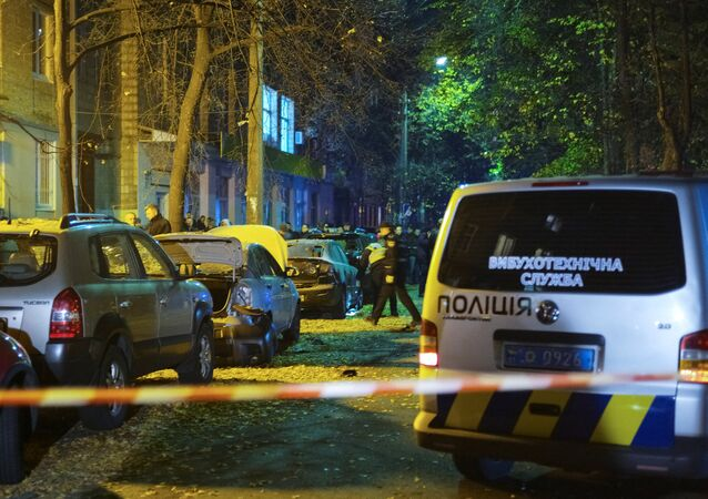 انفجار في وسط كييف