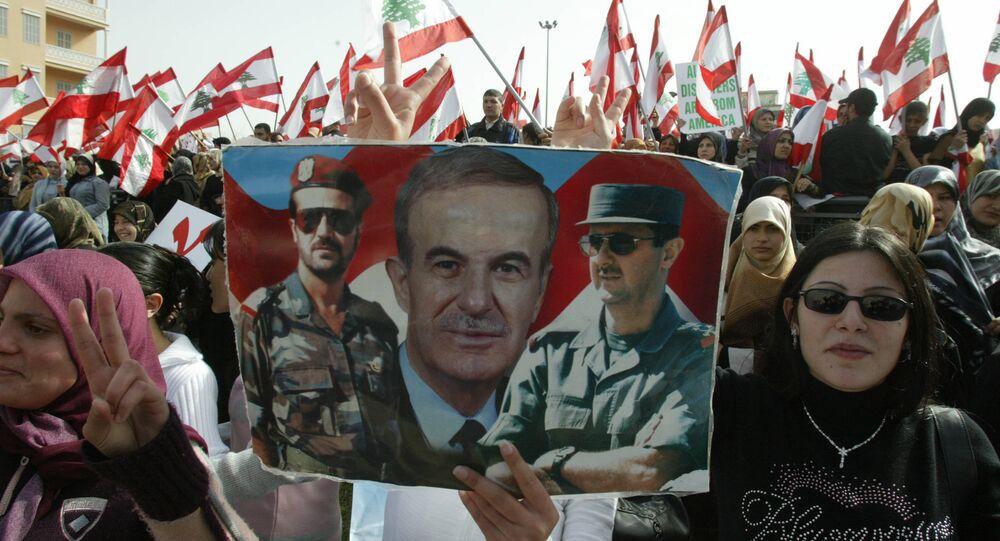 مظاهرة داعمة لسوريا في لبنان
