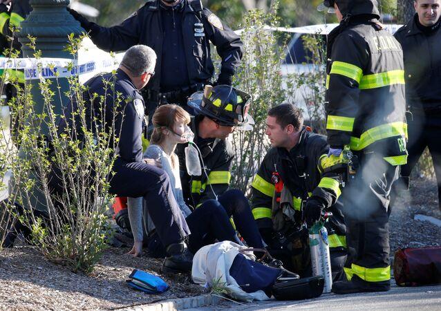 سيدة أصيبت في حادث مانهاتن