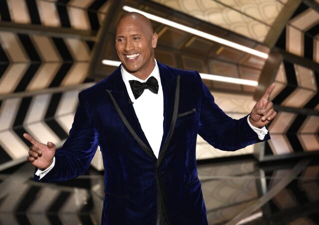 Dwayne The Rock Johnson at the 2017 Academy Awards,