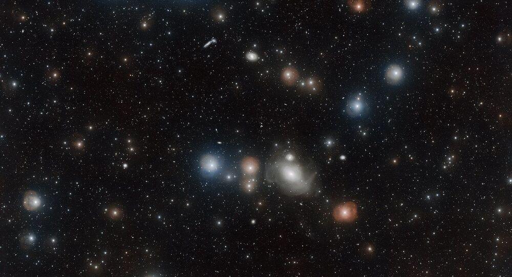 المجرة NGC 1316 - عدد لا يحصى من المجرات التي تبدو وكأنها خزف على قماش أسود