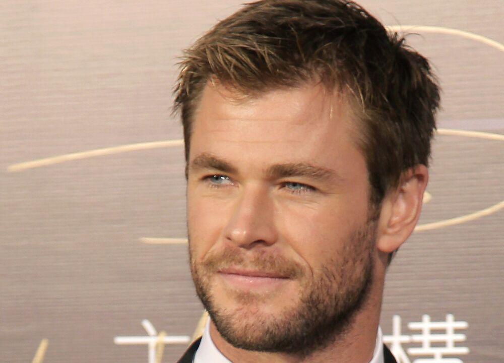 كريس همسوورث في العرض الخاص لفيلم Thor: Ragnarok