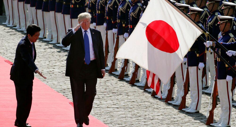 زيارة عمل إلى آسيا - الرئيس دونالد ترامب في طوكيو، اليابان 6 نوفمبر/ تشرين الثاني 2017