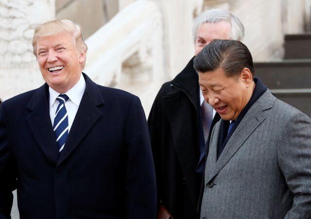 زيارة عمل إلى آسيا - الرئيس دونالد ترامب في بكين،  الصين 8 نوفمبر/ تشرين الثاني 2017