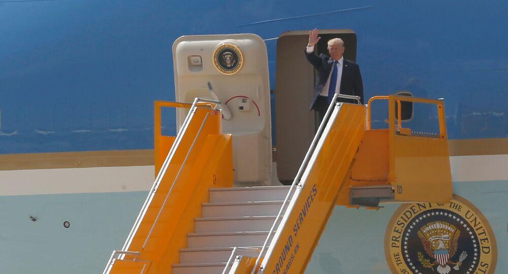 وصول ترامب الى فيتنام