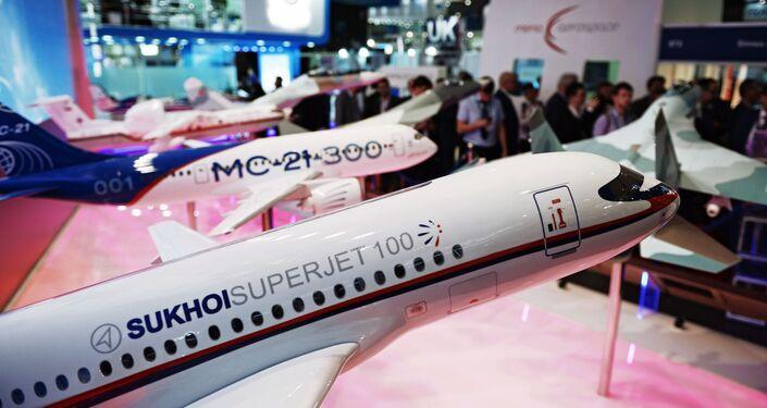 معرض دبي الجوي-الفضائي الدولي لعام 2017 (Dubai Airshow 2017) -(طائرات سوخوي الروسية المدنية)