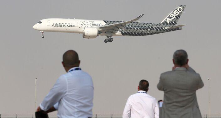 معرض دبي الجوي-الفضائي الدولي لعام 2017 (Dubai Airshow 2017) - طائرة آيروباص أ350 ( Airbus A350)
