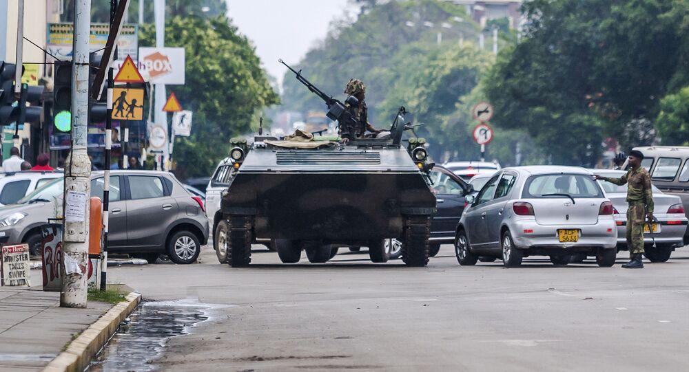 الوضع في هراري، زيمبابوي 14 نوفمبر/ تشرين الثاني 2017