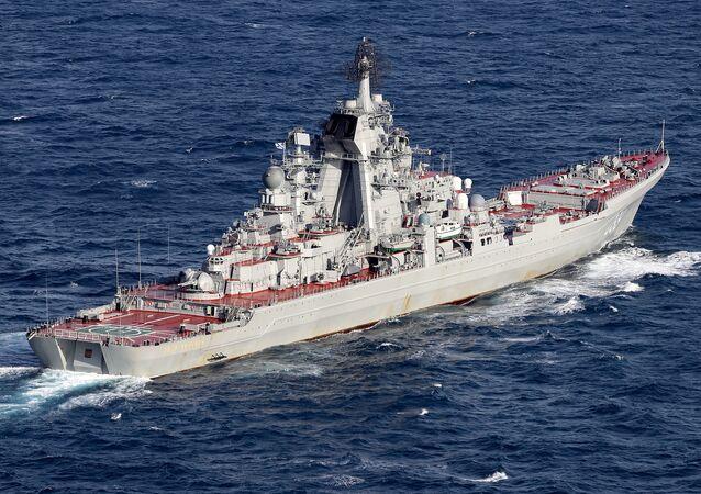 سفينة حربية روسية تعبر مضيق المانش