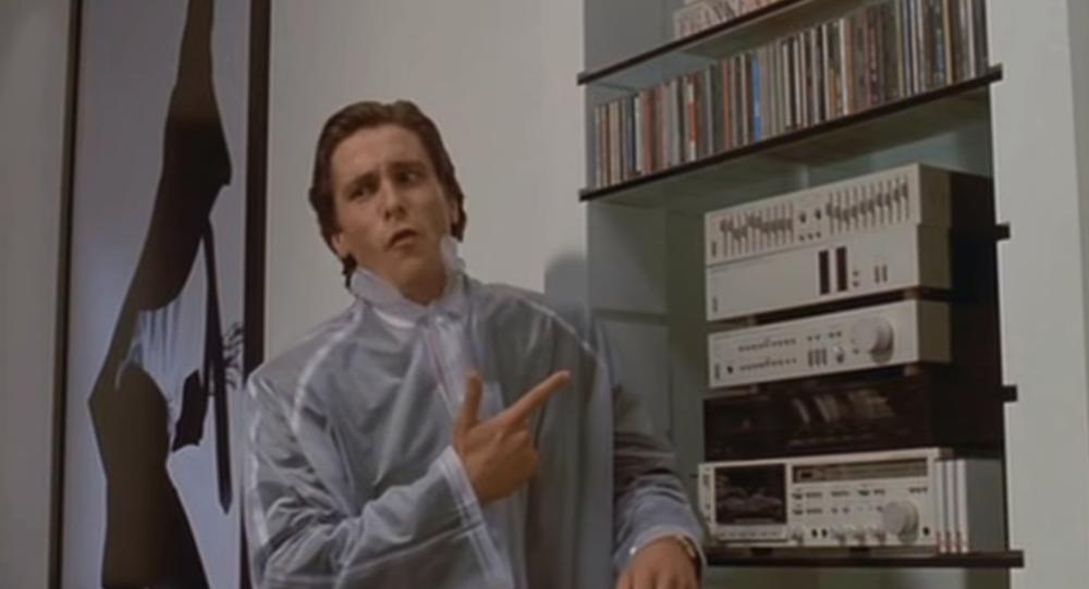الممثل الأمريكي كريستيان بيل في فيلم American Psycho