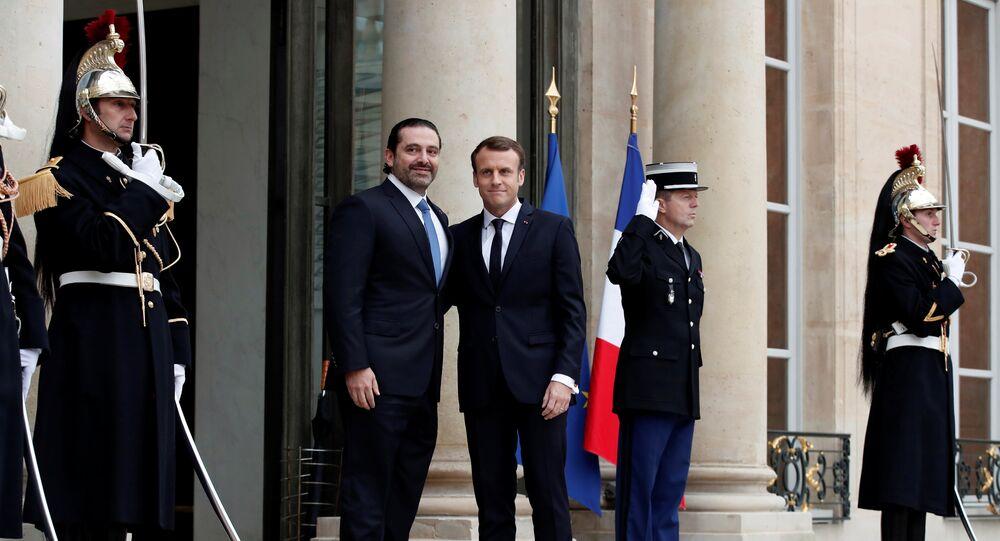 ماكرون يستقبل الحريري في باريس