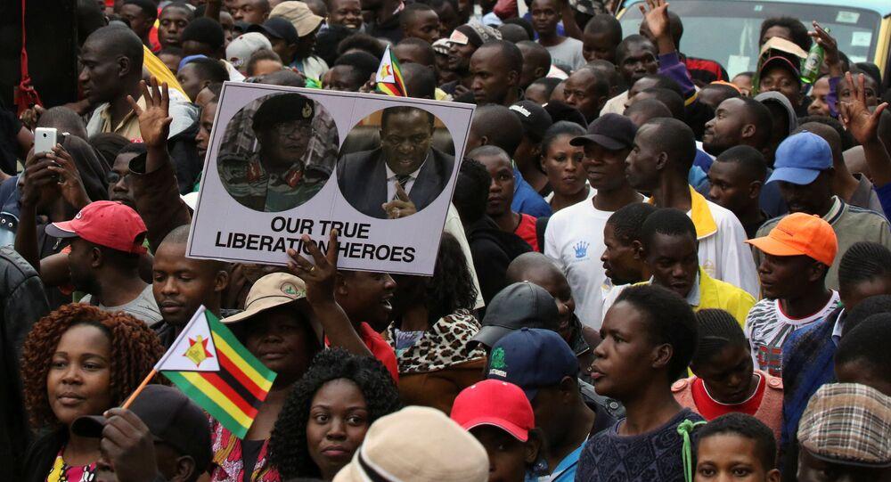 مظاهرات ضد موغابي