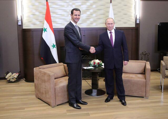 الرئيس الروسي فلاديمير بوتين و الرئيس السوري بشار الأسد