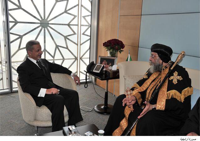 سفير السعودية في القاهرة مع البابا تواضروس