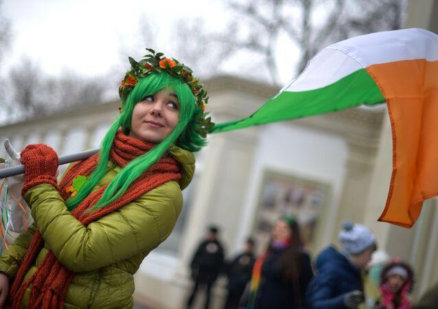 عيد القديس باتريك في موسكو