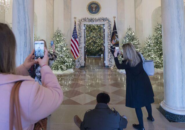 زينة البيت الأبيض - عيد الميلاد المجيد - رأس السنة، الولايات المتحدة27  نوفمبر/ تشرين الثاني 2017
