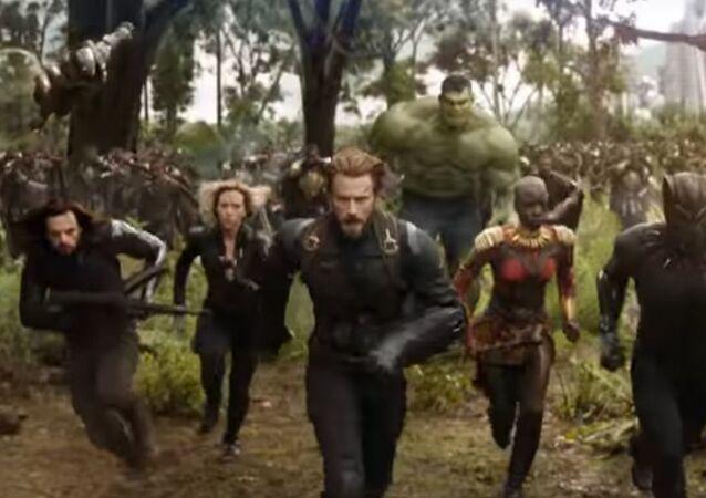 لقطة من إعلان فيلم Avengers: Infinity War