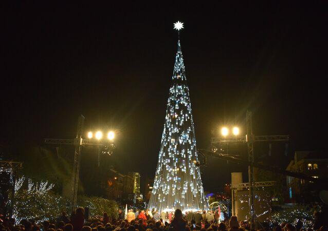 الكرة الأرضية في شجرة جبيل الميلادية