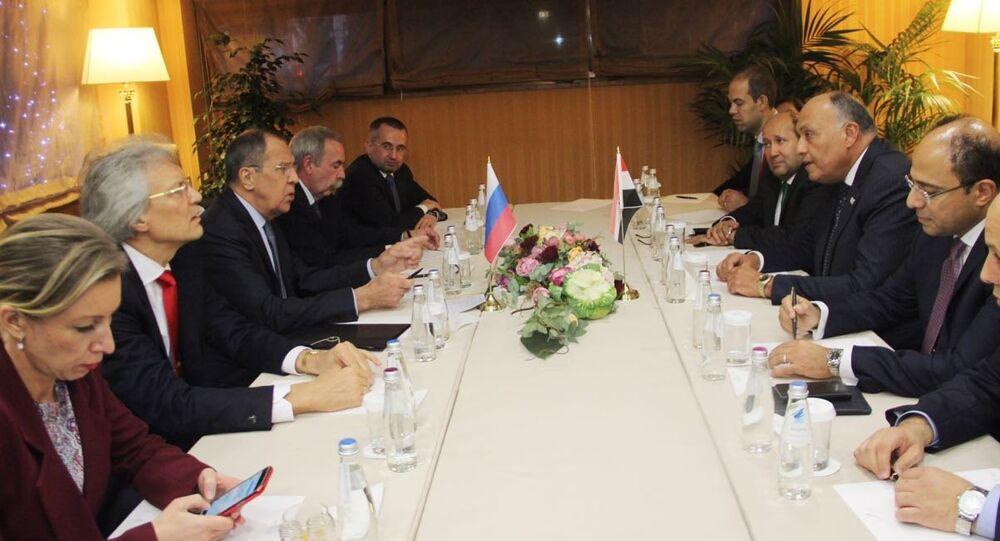 جلسة مباحثات بين لافروف وشكري