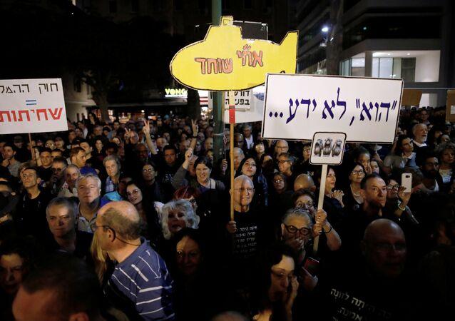 مظاهرات في تل أبيب ضد نتنياهو