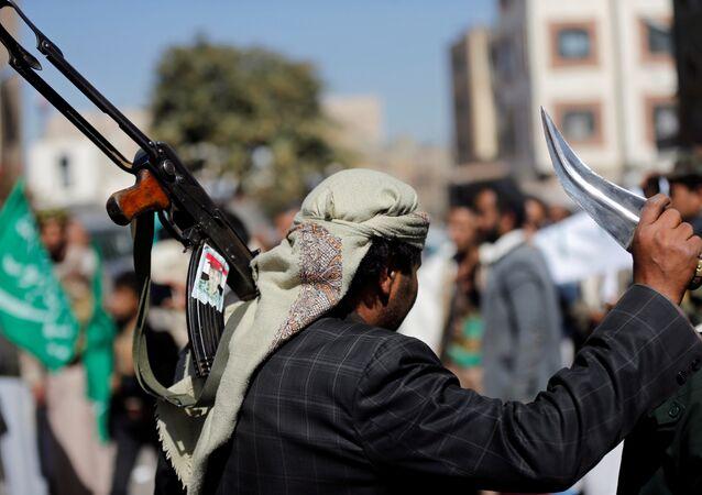 القوات الموالية لـ أنصار الله الحوثي في صنعاء، اليمن 28 نوفمبر/ تشرين الثاني 2017