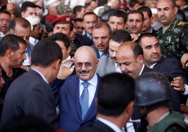 الرئيس السابق علي عبدالله صالح في صنعاء، اليمن 27 فبراير / شباط 2013