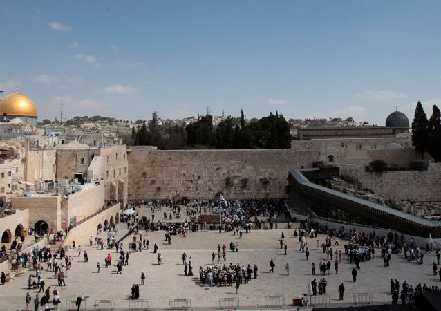 مسجد قبة الصخرة، الحرم الشريف، مسجد الأقصى، مدينة القدس القديمة، 7 مارس/ آذار 2017