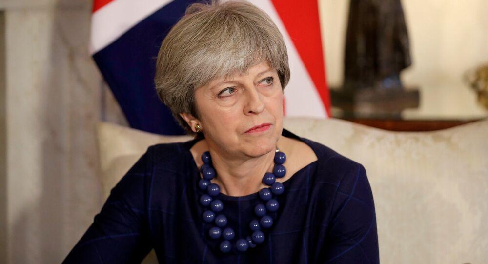 رئيسة الوزراء البريطانية تيريزا ماي في لندن، إنجلترا 6 ديسمبر/ كانون الأول 2017