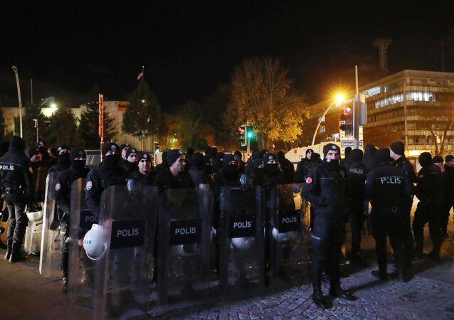 احتجاجات على قرار دونالد ترامب بشأن القدس في أنقرة، تركيا 6 ديسمبر/ كانون الأول 2017