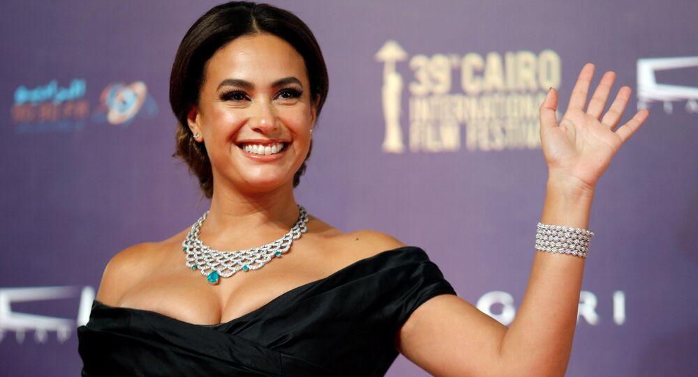 الممثلة المصرية هند صبري، خلال مهرجان القاهرة السينمائي الـ 39، مصر 21 نوفمبر/ كانون الأول 2017