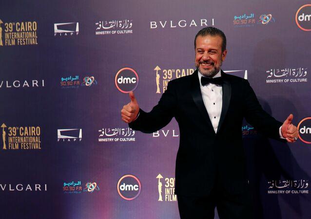 الممثل المصري شريف منير خلال مهرجان القاهرة السينمائي الـ 39، مصر 21 نوفمبر/ كانون الأول 2017
