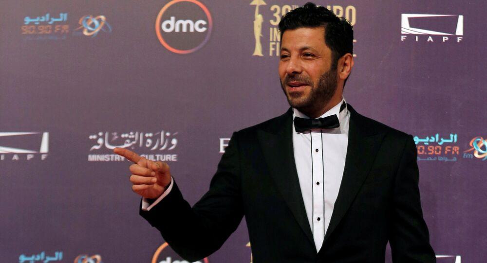 الممثل المصري إياد نصار خلال مهرجان القاهرة السينمائي الـ 39، مصر 21 نوفمبر/ كانون الأول 2017