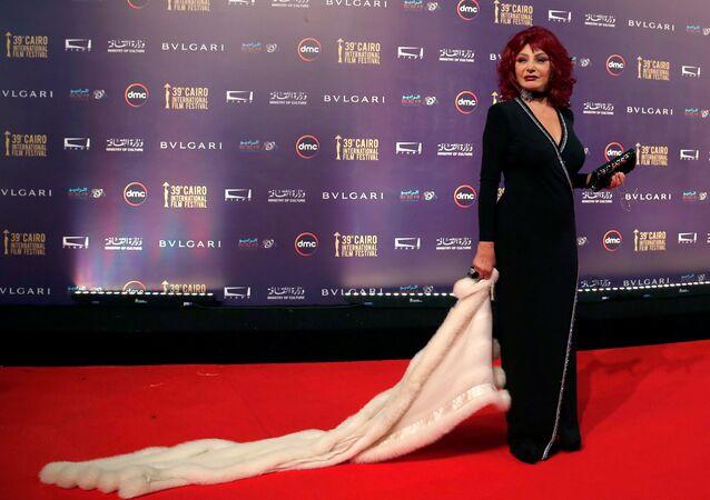 الممثلة المصرية نبيلة عبيد خلال مهرجان القاهرة السينمائي الـ 39، مصر 21 نوفمبر/ كانون الأول 2017