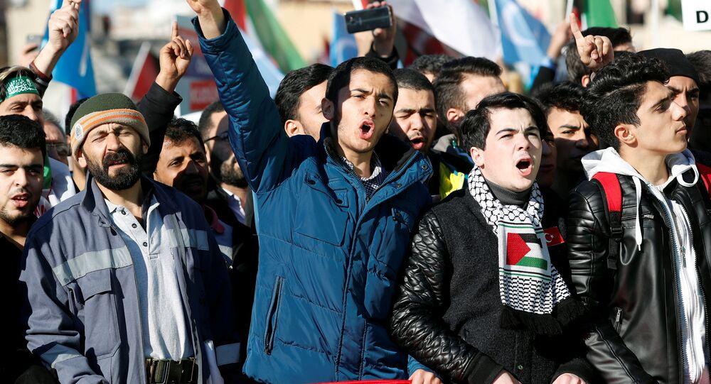 احتجاجات في اسطنبول ضد قرار ترامب حول القدس