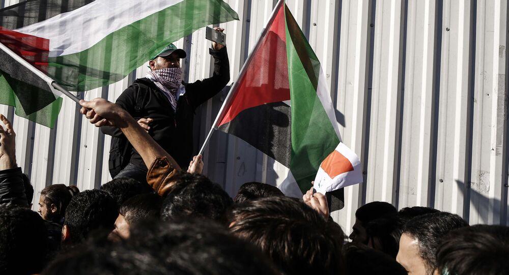احتجاجات على قرار دونالد ترامب بشأن القدس في تركيا ديسمبر/ كانون الأول 2017