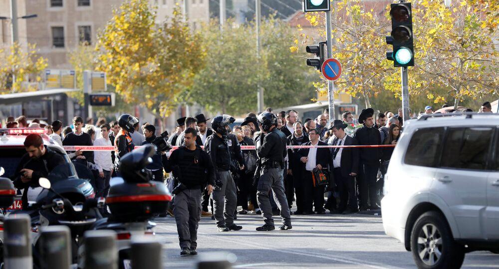 موقع عملية طعن رجل الأمن الإسرائيلي بالقدس الغربية