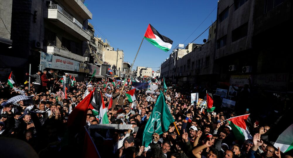 مظاهرات ضد قرار ترامب بشأن القدس في العاصمة الأردنية عمان