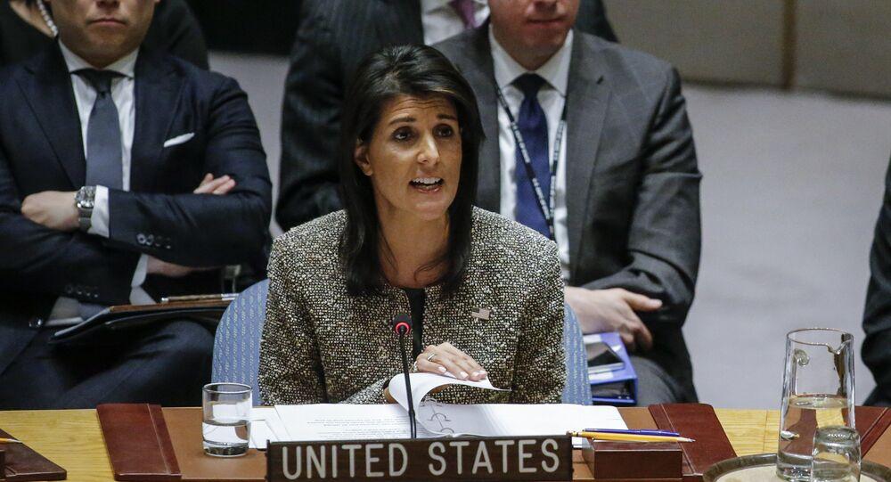 الممثلة الدائمة للولايات المتحدة لدى الأمم المتحدة نيكي هايلي