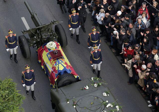 تشييع جثمان ملك رومانيا ميخائيل