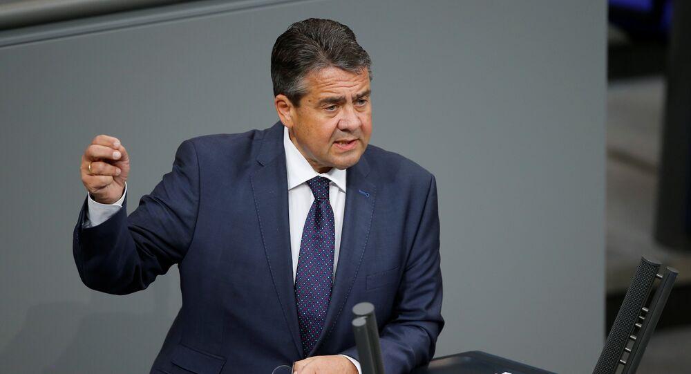 وزير الخارجية الألماني، نائب المستشارة الألمانية زيغمار غابريل
