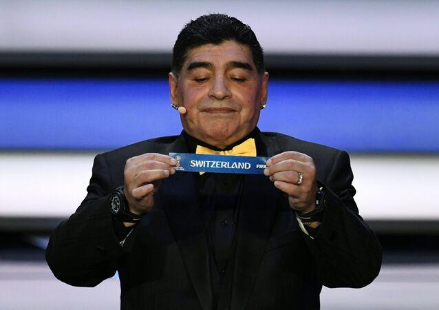 مارادونا في قرعة كأس العالم 2018 في روسيا