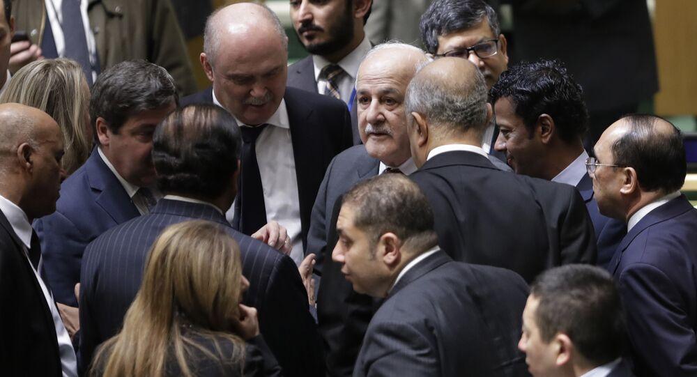 ممثل فلسطين في الأمم المتحدة رياض منصور